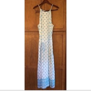 Blue and white old navy maxi dress